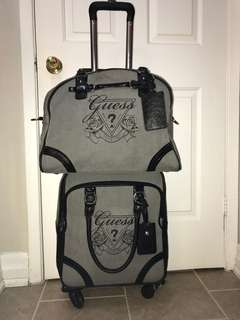 *reduced* Guess Travel Suitcase & Matching Carry On Bag