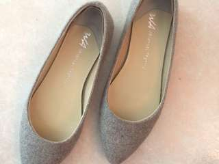 Oriental traffic灰色平底鞋