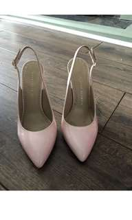 Charlotte Olympia 粉紅色令面高跟鞋