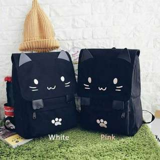 [PO] Japanese Canvas Cat Backpack