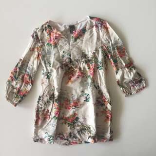 Zara Kids Floral Print Dress
