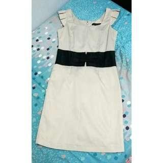 Little Match Girl Nude Ribbon Dress Import Premium
