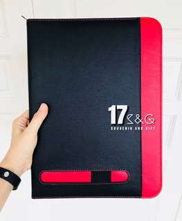 PU Seminar Folder with Calculator & Writing Pad