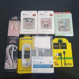 Handphone Cable & Accessories Bundle Deal