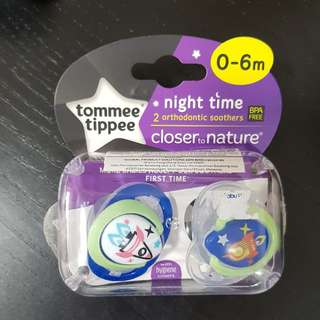 Tommee Tippee night time pacifiers
