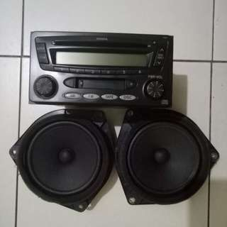 Toyota Car Stereo 2 din head unit with 2 speaker