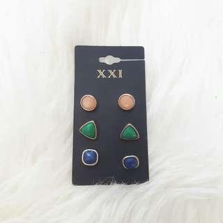 F21 Stones earrings