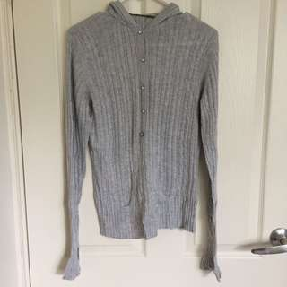 Guess Grey Knit Jumper size s