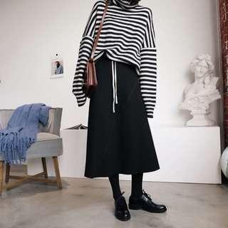🚚 冬季裙 抽繩内加絨半身裙 中長款加厚A字傘裙 遮小腿肚
