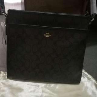 Coach sling bag - dark brown