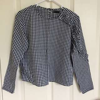 Seed Checkered top size s