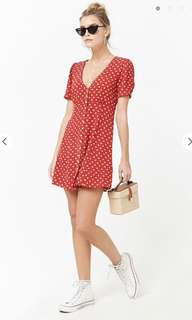 Forever 21 Crepe Floral Swing Dress