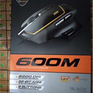 【COUGAR 美洲獅】 600M 遊戲級雷射電競滑鼠 黑色款