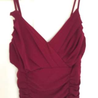 Wine Red Formal Dress size 6