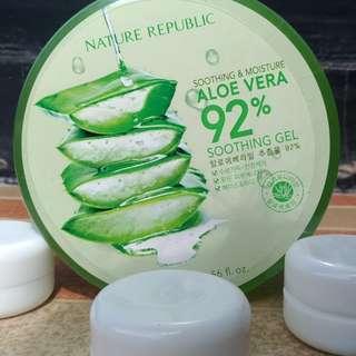 ORIGINAL‼️Nature Replubic Aloe Vera 92% share in jar 15gr