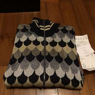Gucci金蔥針織外套