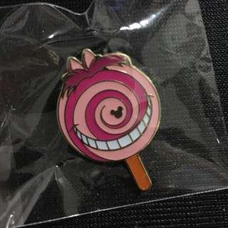 全新 香港 迪士尼 美食車 妙妙貓 徽章