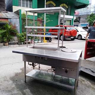 For siomai stainless shelves with stove