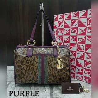 Bonia Boston Bag Purple