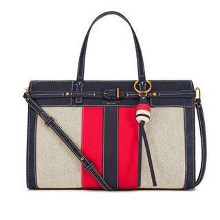 Tory Burch Satchel Bag 2 colors: Navy and Natural Nut