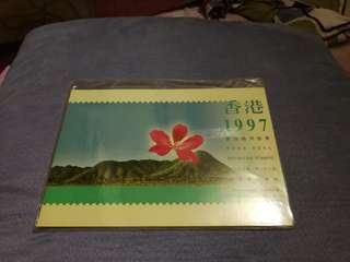 Hong kong post stamp 香港郵政郵票套摺1997通用郵票 1997 definitive stamp