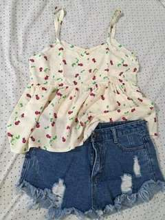 Summer top with a beetle design