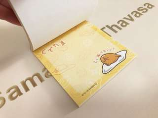 NEW! Japan Sanrio Gudetama Notepad