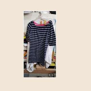 Blue stripe dress mini