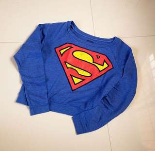 Superman sweater cropped