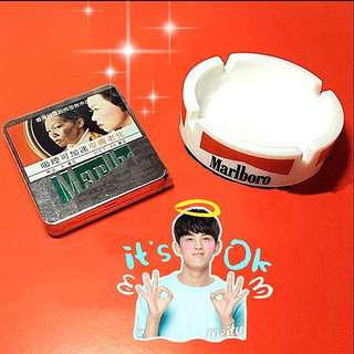 Marlboro  *1 ashtray + 1 iron box