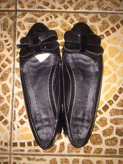 elips black flat shoes