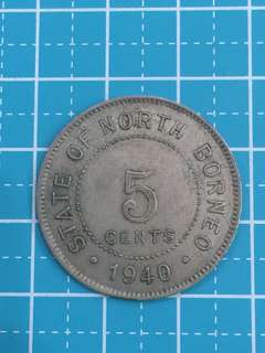🔥Clearance🔥North Borneo One Cent Year 1940