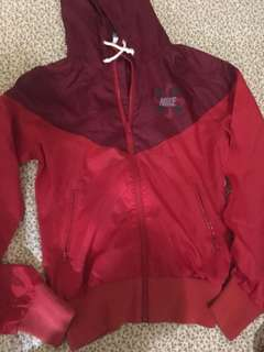 Nike track and field red jacket
