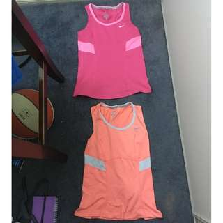 Pink and Peach Nike Tops Size S