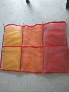 Ikea Kusiner Kids wall pockets red and orange