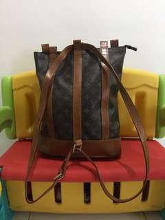 Louis Vuitton backpack with serial number LV