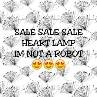 SALE SALE 2pcs HEART LAMP IM NOT A ROBOT