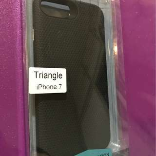 Triangle Back Case for iPhone 7 (Black)