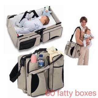 Travel Baby Cot & Diaper Bag(Newborn)