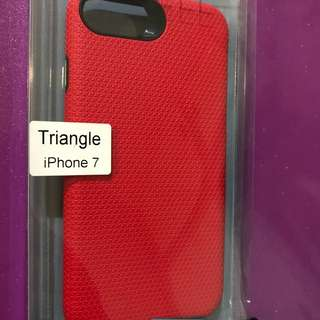 Triangle Back Case for iPhone 7 (Red)