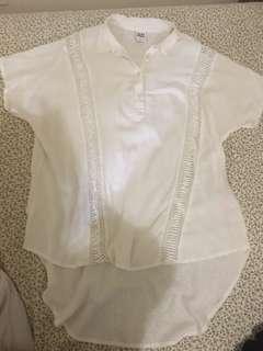 Vero moda baggy white shirt