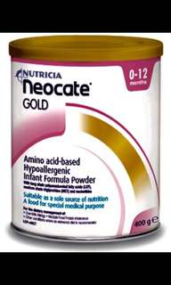 Nutricia Neocate - Amino acid-based hypoallergenic infant formula 0-12months