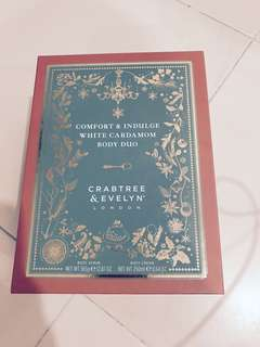 Crabtree & Evelyn White Cardamom Body Duo - pick up from Sengkang by 5th April