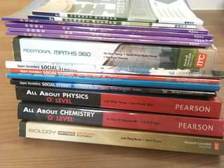 Upper secondary textbooks of various subject