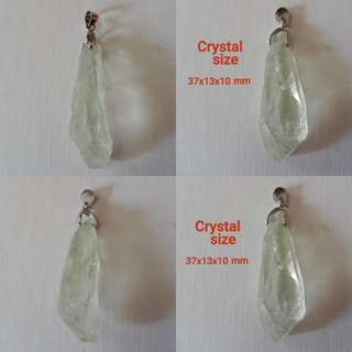 Very rare and Nice Natural Green Amethyst pendant.(绿色紫水晶吊坠).