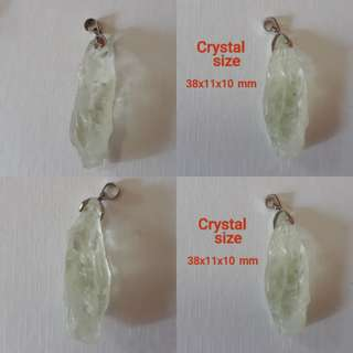 Very rare and Nice Natural Green Amethyst pendant.(绿色紫水晶吊坠).