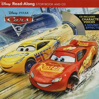 (Brand New) Cars 3 Read-Along Storybook and CD    By: Disney Book Group
