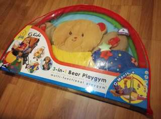 3-in1 function: Kidz baby playgym/ cushioned playmat/ cushioned layer for stroller