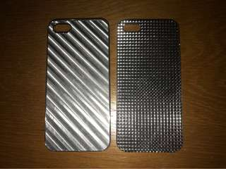 iphone 5/5s ; silver cases set
