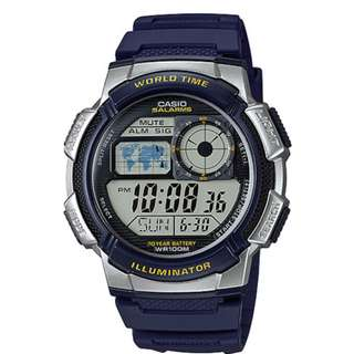 Casio AE-1000W-2A Navy Blue Watch for Men - C0D FREE SHIPPING